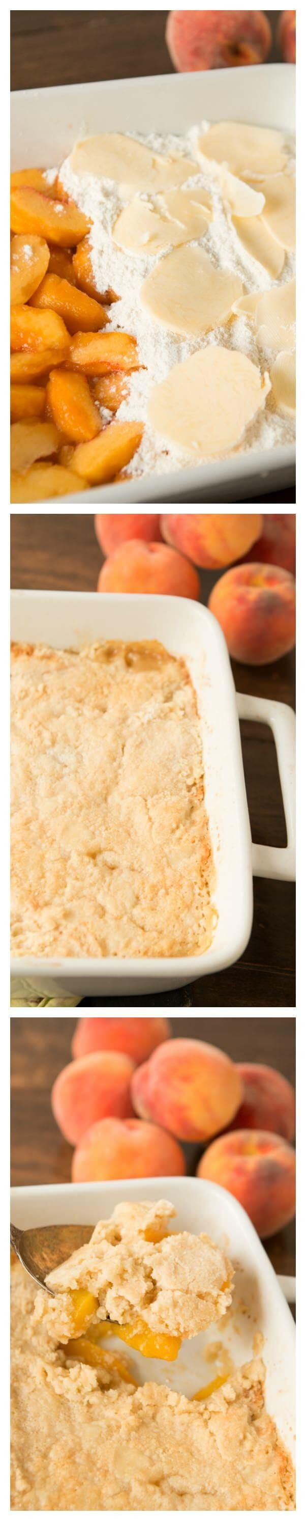 the best way to make peach cobbler with a cake mix ohsweetbasil.com