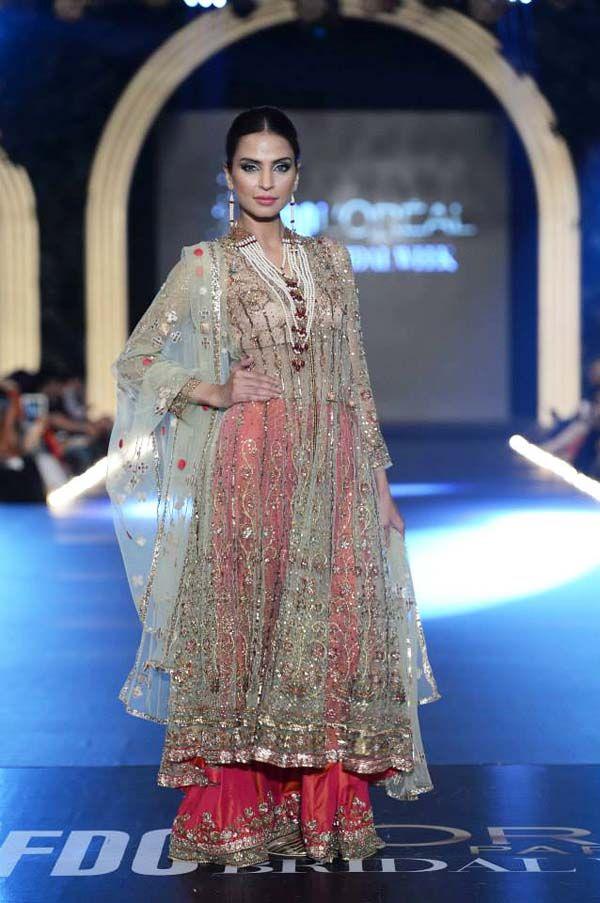 Pink lengha by MIsha Lakhani at PFDC Bridal Week 2013