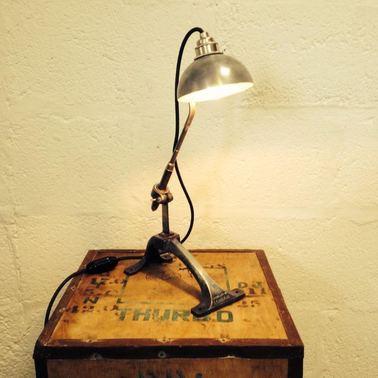 A wonderful steampunk meets rustic industrial lamp made from an old soup ladle and a 1950s kitchen mincer - upcycling at its best!. Shared during #UpcycledHour Tuesday 8-9pm on Twitter by @Reworked_uk: www.reworked.co.uk.