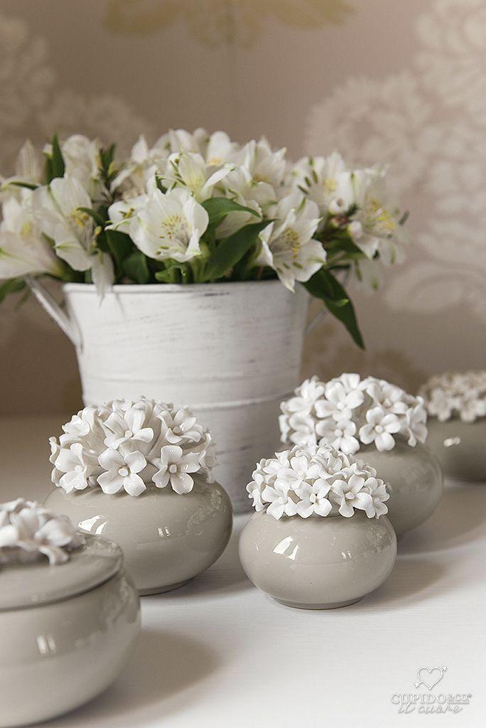 Bomboniere In Ceramica Per Matrimonio.Bomboniera In Porcellana Con Motivo Floreale Per Matrimonio Idea