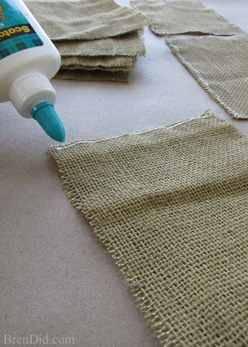 how to easily prepare burlap for crafts crafts seals