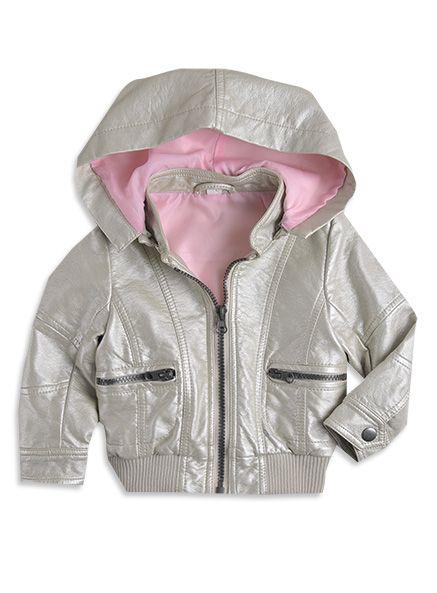 Pumpkin Patch - jackets  - metalic pu jacket - W3TG40009 - almond cream - 6-12mths to 6