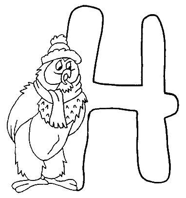 Coloring pages winnie the pooh alphabet 8