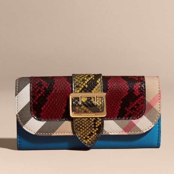 Burberry Prorsum Snakeskin House Check Wallet A signature Burberry design  featuring the check pattern and a e733117a28664