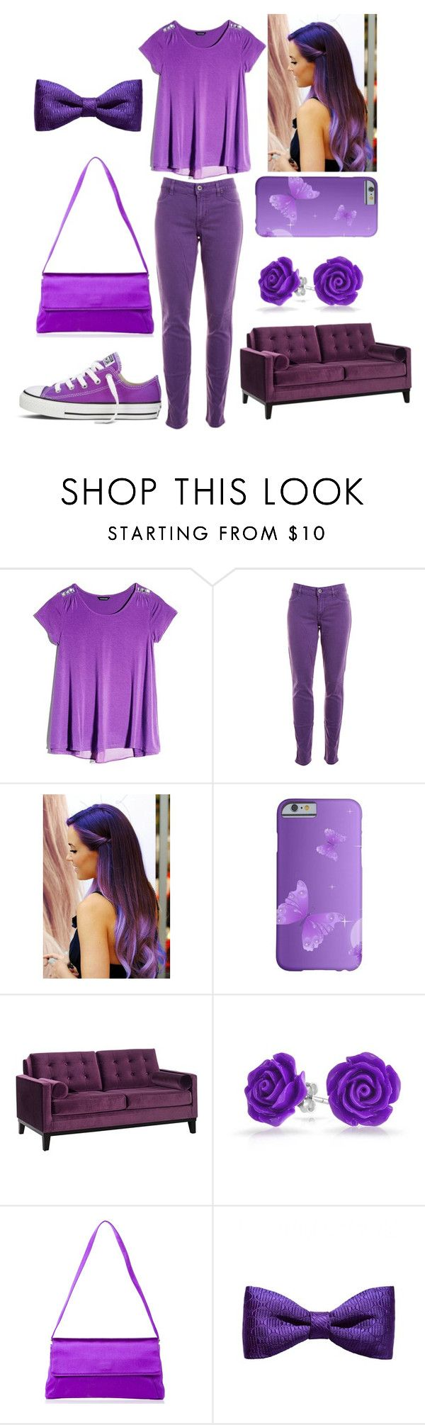 """Purple daze"" by themightytiff ❤ liked on Polyvore featuring GUESS by Marciano, Rich & Skinny, Armen Living, Bling Jewelry and ZuZu Kim"