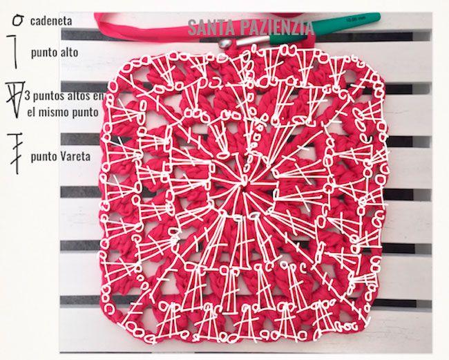 Lo que te he preparado en esta ocasión es algo muy original. Se trata de un  Clutch hecho con el patrón de un Granny de crochet pero traba...