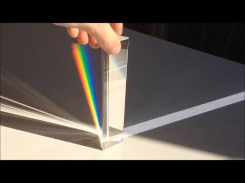 El prisma de Newton - White light through prism - YouTube