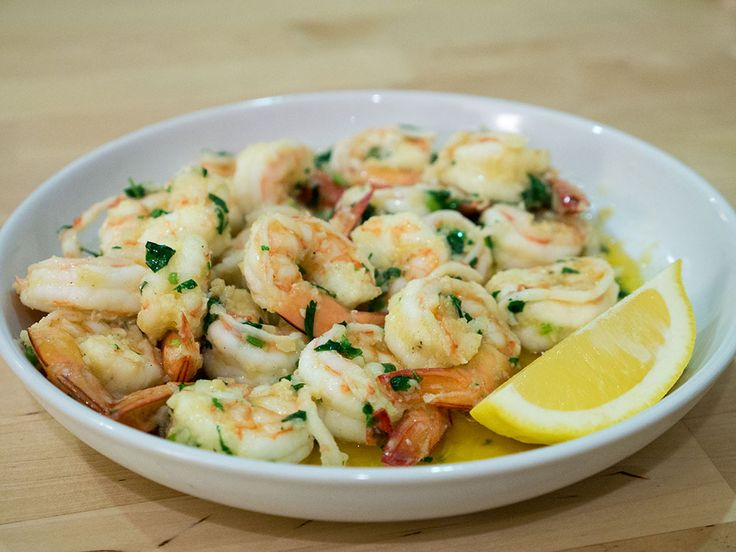 Purple bowl: Butter garlic prawns recipe