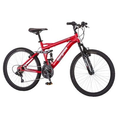 Mongoose Boys' Standoff 24 Mountain Bike - Red