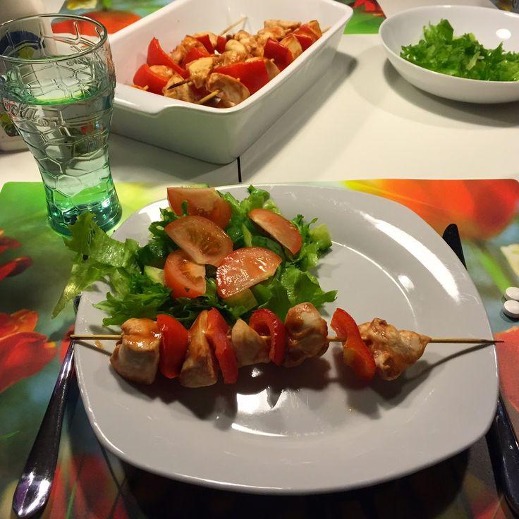 Dukan - og jeg kan også: Barbecuemarinerede grillspyd