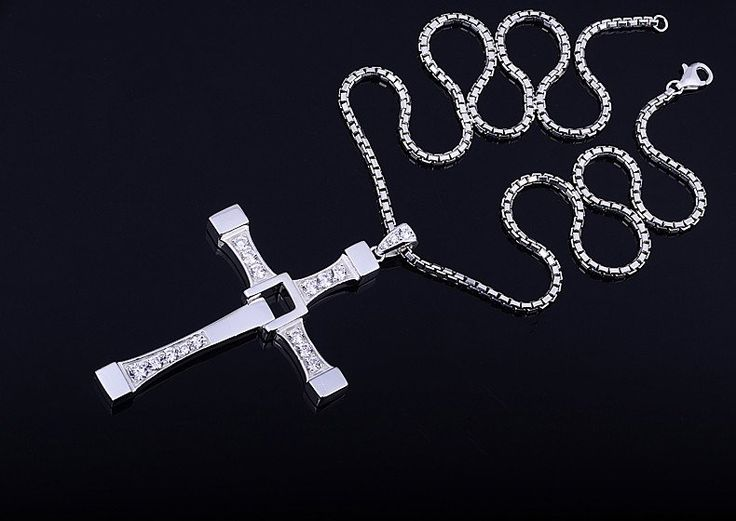 Fast and Furious Dominic Toretto Vin Diesel Cross Necklace Color: Silver ONLY LIMITED QUANTITY - WILL SELL OUT FAST! NOTE: Please allow 2-4 weeks for delivery
