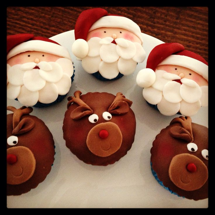 Santa & Rudolf cupcakes