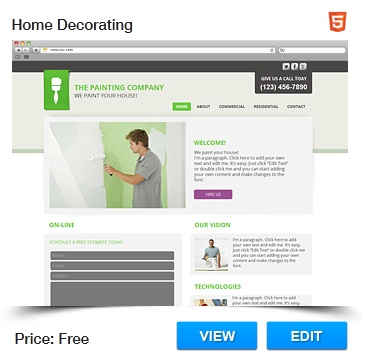 home decorating website template free html templatesdecorating websiteswebsite templatenifty - Free Html Website Templates