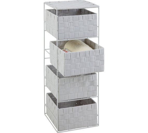 Buy ColourMatch 4 Drawer Storage Unit - Super White at Argos.co.uk, visit Argos.co.uk to shop online for Bathroom shelves and storage units, Bathroom furniture, Home and garden