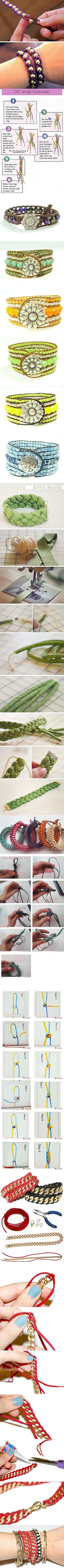 DIY bracelet tutorials! What a comprehensive list with great photos!