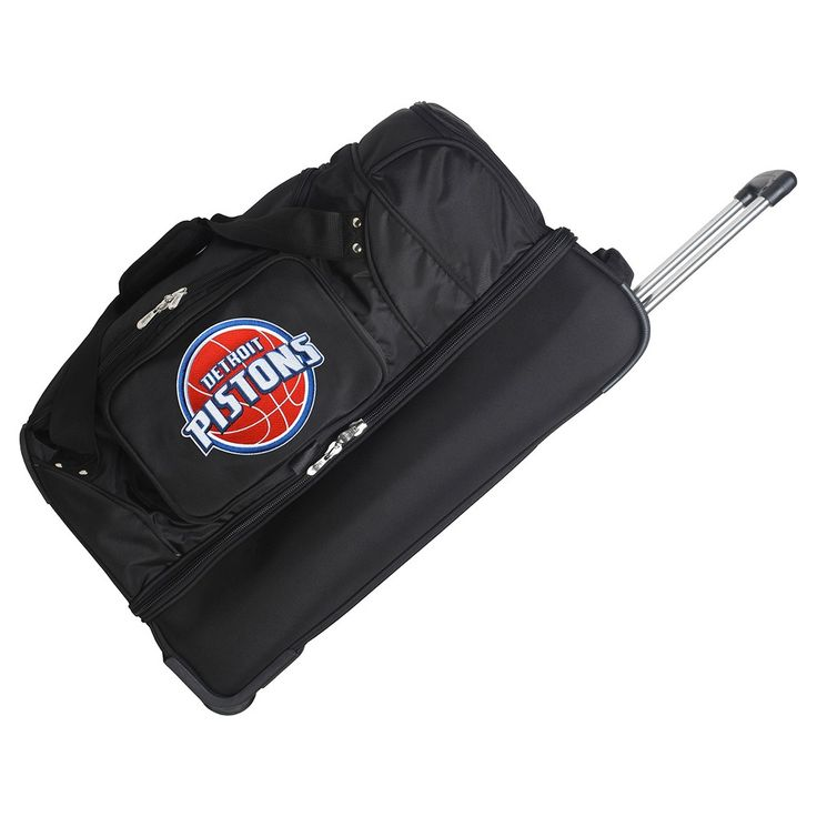 NBA Detroit Pistons Mojo 27 Rolling Drop Bottom Duffle Bag
