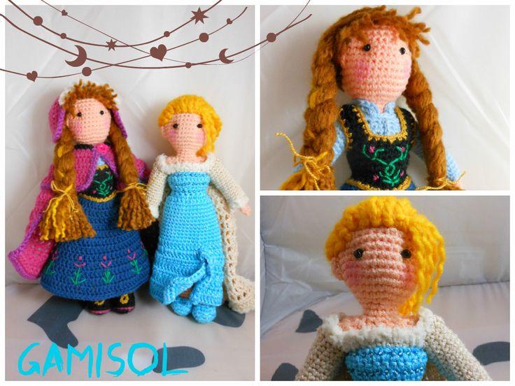 Elsa y Anna de Forzen amigurumis