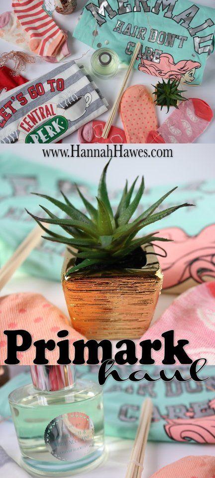 Primark haul. Mermaid hair, don't care. Homeware, sleep ware and socks. Spring, summer, pastel colours.  www.HannahHawes.com