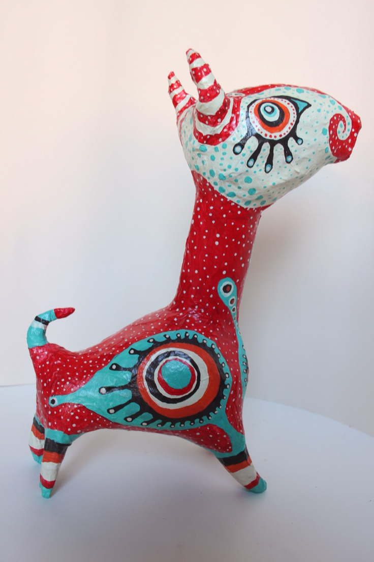 314 best paper mache images on pinterest paper mache for Paper clay projects