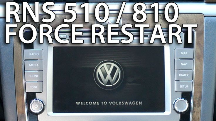 How to force restart #RNS510 #RNS810 system #Volkswagen #Skoda #Seat