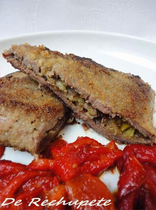 De Rechupete: Escalopes de ternera rellenos de tomates secos y cebolla