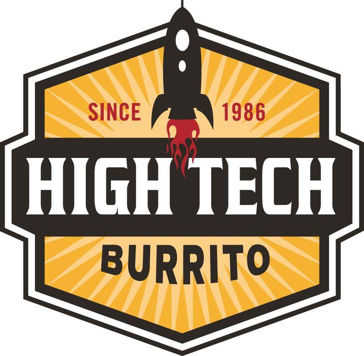 High Tech Burrito Restaurant Chain Logo