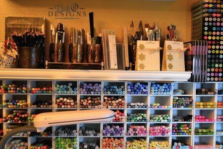 Cindy B Designs' craft space