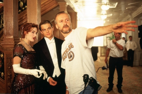 12 Things You Didn't Know About James Cameron's 'Titanic' (PHOTOS) click the picture to see behind-the-scenes moments, cinematic tricks, and odd facts you may not have known about the 1997 blockbuster.: James Of Arci, Leonardodicaprio, James Cameron, Titan Movies, Kate Winslet, Katewinslet, Leonardo Dicaprio, Titan 3D, Jamescameron