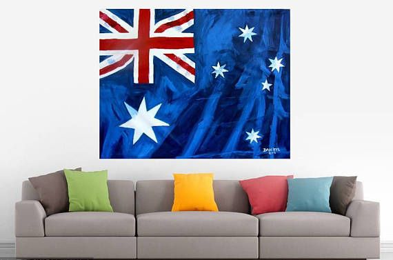 Australian Flag Large Original Art Painting Investment