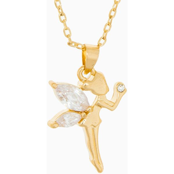 Fairy Pendant Necklace ($6.95) found on Polyvore
