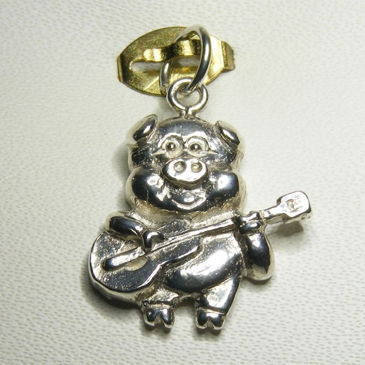 Buy Pig Playing Guitar Charm (cha-0220) online at Chain Me Up