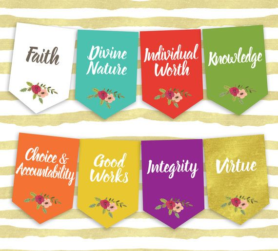 YW Values banner