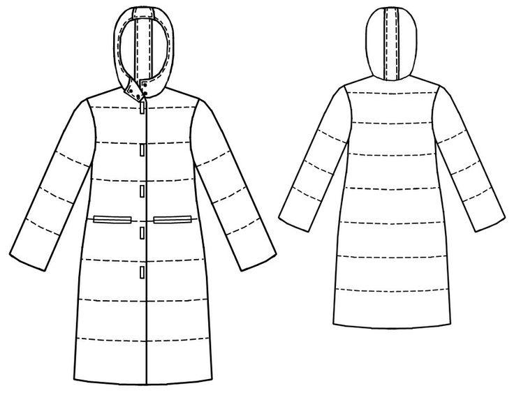 Стеганое Пальто  - Выкройка #7063 Выкройки на Ваш размер от компании Lekala - скачать онлайн бесплатно