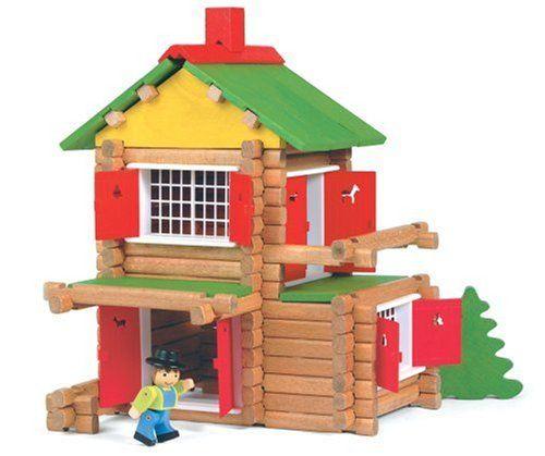 JeuJura – Jouet en bois – Maison Forestiere – 135 Pieces: Jeu de Construction en Bois Contient 135 pièces Valisette carton: 32 x 27 x 11…