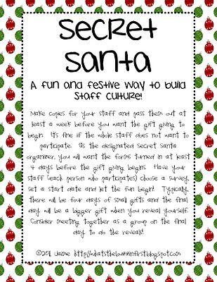 15 best secret santa images on pinterest holiday fun secret
