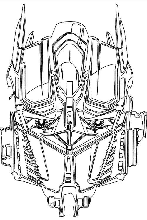 faca transformer coloring page coloring papers