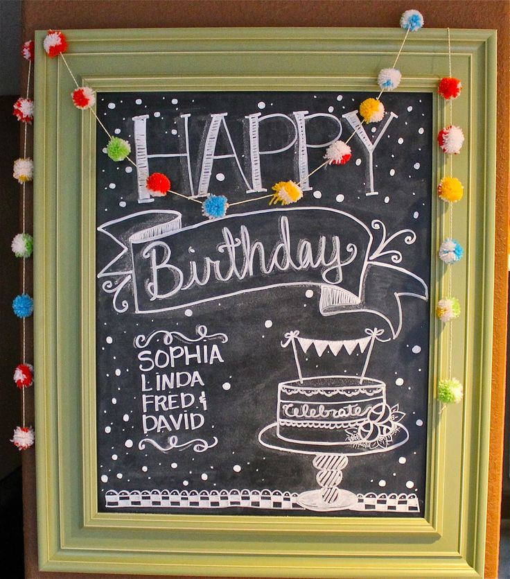 Blackboard Artwork Ideas: 25+ Best Ideas About Happy Birthday Chalkboard On