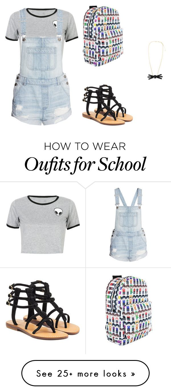 school outfit by ravenishere on Polyvore featuring WithChic and Mystique