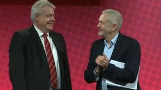 Corbyn speaks to Welsh Labour as Carwyn Jones quits -  Corbyn speaks to Welsh Labour as Carwyn Jones quits                                                                                                22 April 2018                                    Image caption                                      Carwyn Jones and Jeremy Corbyn together at the Welsh Labour conference in 2017                                Labour leader Jeremy Corbyn will address Welsh Labour delegates less than 24 hours…