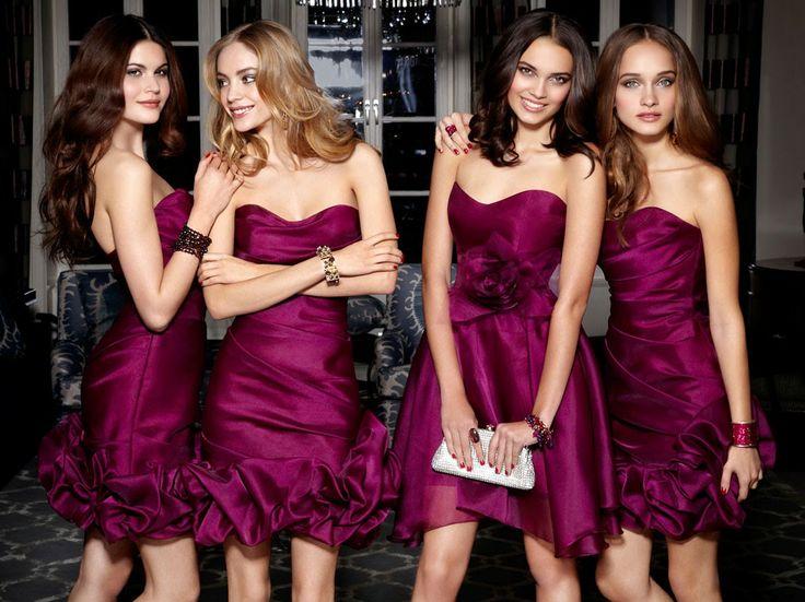 Increíbles vestidos de damas de honor   Tendencias