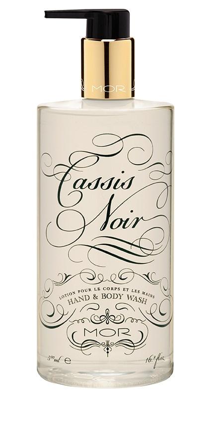 Pretty MOR Cassis Noir hand soap packaging