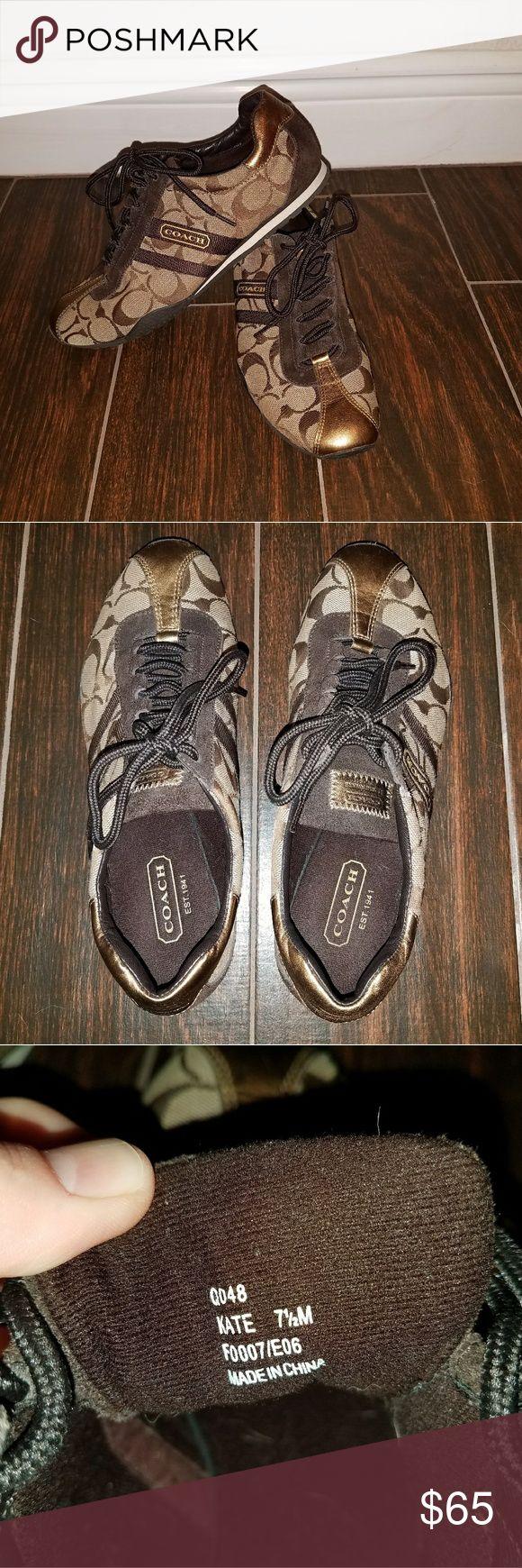 Tennis Shoe Brown Trimmings