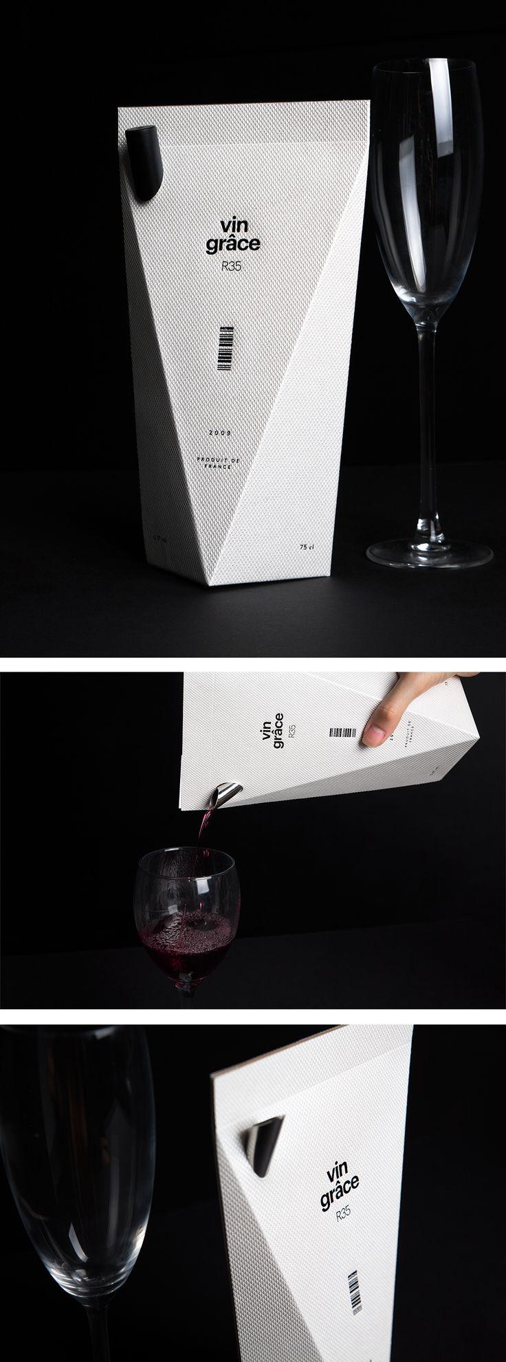vin grâce wine by minimalist. Beautiful #packaging PD