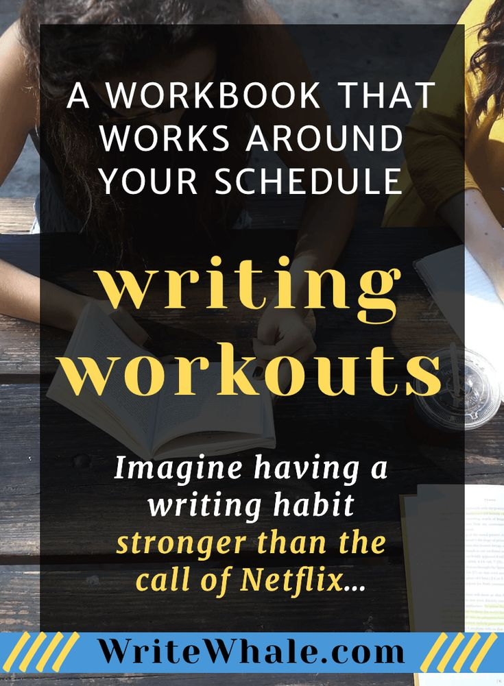 A writing workbook full of writing exercises. Learn how to come up with creative writing ideas for a novel, develop your observational skills, and make writing every day fun and easy. | Writing resources | writing habit | learn to write | write a novel | workbook | overcome procrastination via @lizrufiange