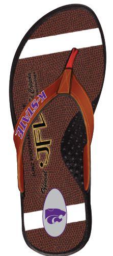 Kansas State Wildcats Football Flip Flops