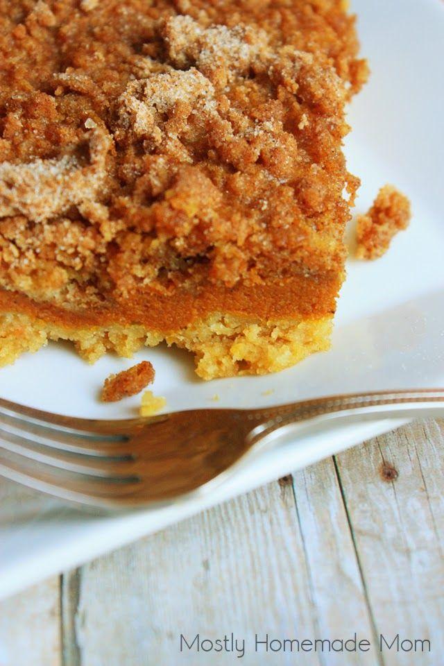 Mostly Homemade Mom: Pumpkin Pie Crumb Cake