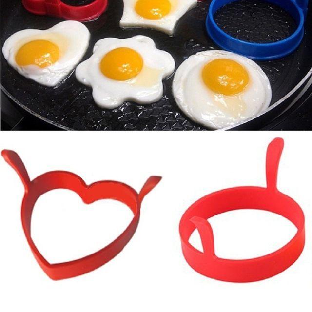 Creative Round Heart Kuchyňa Silikónová vajcia Frier Fried lievance Ring Mould Tool Drop doprava
