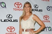 Gabrielle Reece Oversized Belt -   Gabrielle added definition to her whittled waist with a patterned #belt.