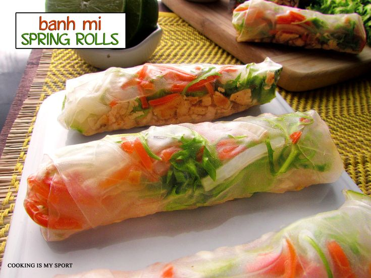mi spring rolls cooking banh mi spring rolls sport appies forward banh ...
