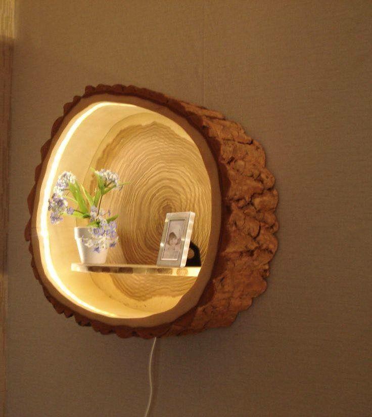Lamparas y adornos de madera